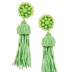Lisi Lerch Tassel Earrings - Lime